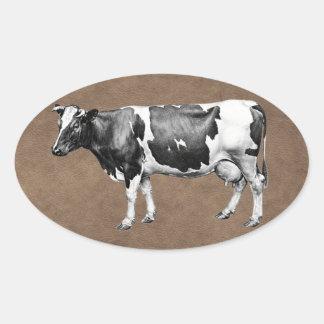 Milchkuh Ovaler Aufkleber