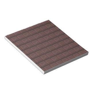 Milchschokolade Notizblock