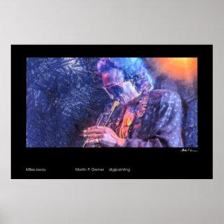 Miles away (Miles Davis painting) Poster