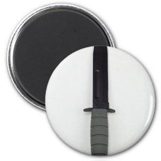 Militär bekämpft Messer vertikale KaBar Art Runder Magnet 5,1 Cm