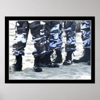 Militär-Stiefel-Leinwand-Druck Poster