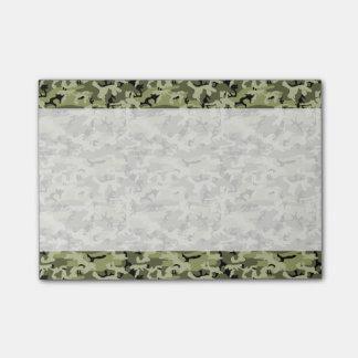 Militär tarnt Muster - grünes weißes Schwarzes Post-it Klebezettel