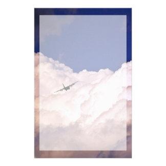 Militär transportiert Flugzeug durch Shirley Briefpapier