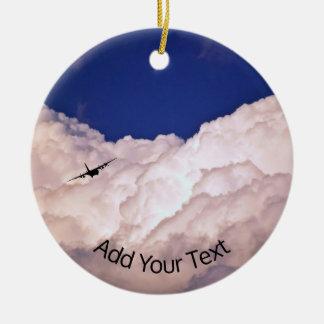 Militär transportiert Flugzeug durch Shirley Keramik Ornament