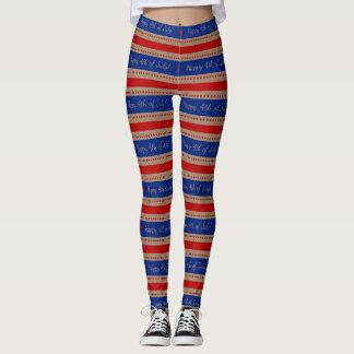 Militär-USA 4. patriotischen Streifens Legging Leggings