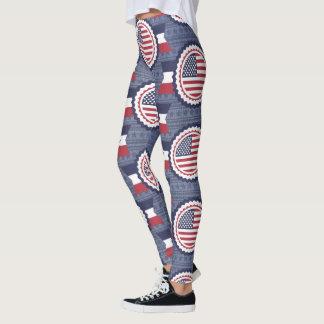 Militär-USA Juli 4. patriotisches Legging Leggings