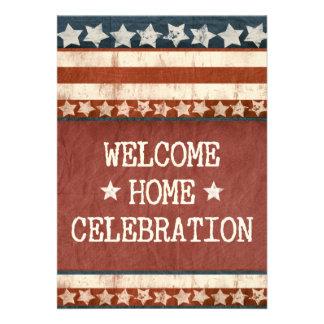 Militär-willkommenes Zuhause-Party-Foto Personalisierte Einladung