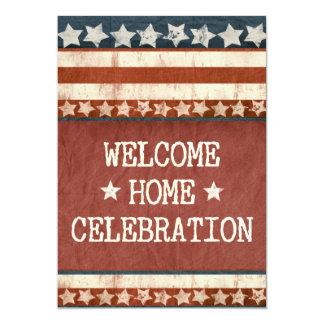 Militär-willkommenes Zuhause-Party-Foto Einladungskarte