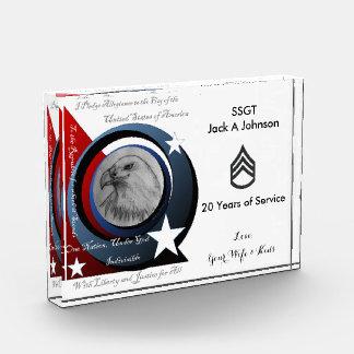 Militäranerkennungs-Preis Acryl Auszeichnung
