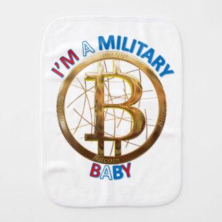 MilitärBitcoin Baby-Kleid Spucktuch