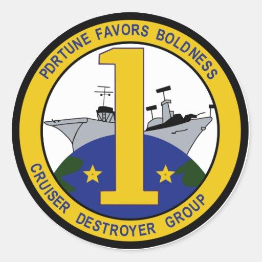Militärflecken der Kreuzer-Zerstörer-Gruppen-eine Runde Sticker