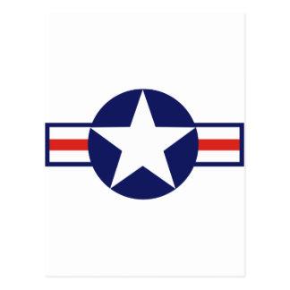 Militärflugzeug-Stern 1947-1999 US Postkarte