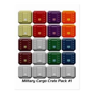 Militärfracht-Kisten-Satz #1 Postkarten