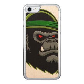 Militärgorilla-Kopf Carved iPhone 8/7 Hülle