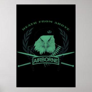 Militärinsignieart der im Flugzeug Truppen Poster