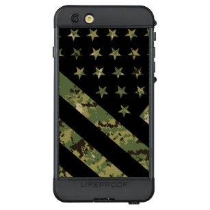 Militärische digitale Camouflage US-Flagge LifeProof NÜÜD iPhone 6s Plus Hülle