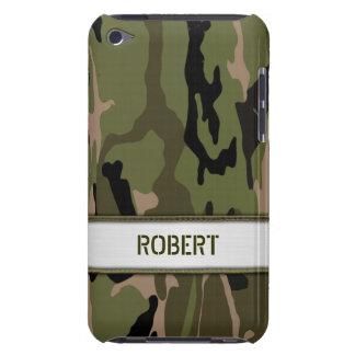 Militärische grüne Camouflage-Namen-Schablone Barely There iPod Cover