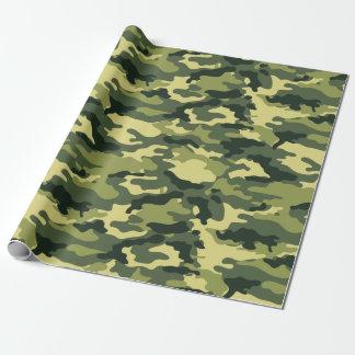 Militärisches grünes Tarnungs-Camouflage-Muster Geschenkpapierrolle