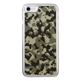 Militärisches grünes Tarnungs-Muster Carved iPhone 8/7 Hülle