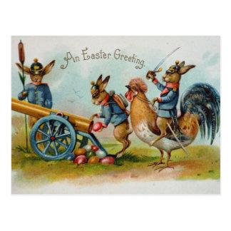 MilitärOSTERHASEN-Eier in Canon Postkarte