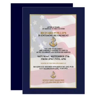 Militärruhestands-Party Einladungen