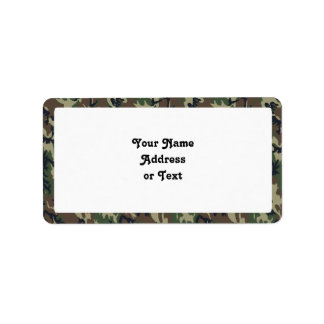 Militärwaldtarnungs-Hintergrund Adressetiketten