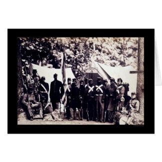 Miliz-Truppen in Arlington, VA 1861 Karte