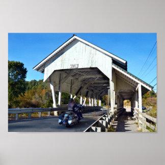 Miller Laufüberdachte Brücke, Lyndon, Vermont Poster