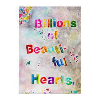 Milliarden der schönen Herzen, die Plexi malen Acryl Wandkunst