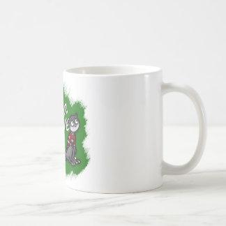 Millie die Olive mustert Tasse, grünen Hintergrund Kaffeetasse