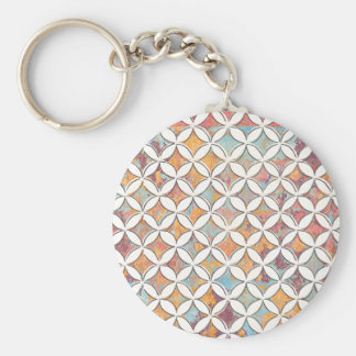 Millie Kreis-Muster mit mehrfarbiger Beschaffenhei Standard Runder Schlüsselanhänger