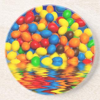 Millimeter-Schokoladen-Süßigkeiten Getränkeuntersetzer
