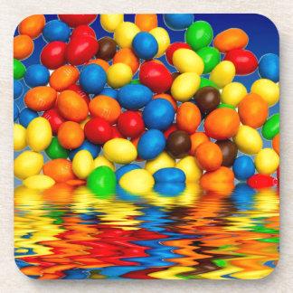 Millimeter-Schokoladen-Süßigkeiten Untersetzer