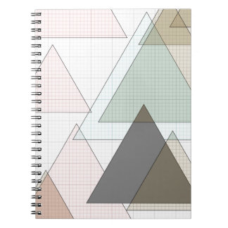 Millimeterpapier Dreiecke graph paper Spiral Notizblock