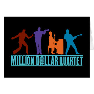 Million Dollar-Quartett auf Bühne Karte
