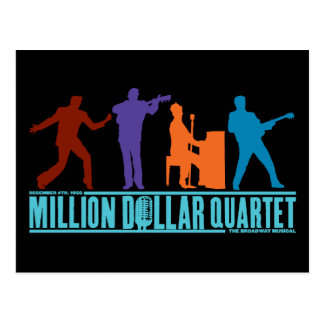 Million Dollar-Quartett auf Bühne Postkarte