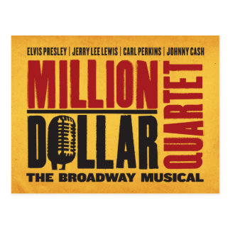 Million Dollar-Quartett-Logo Postkarte
