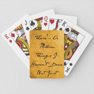 Million Sachen Spielkarten