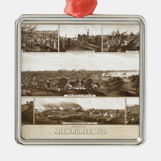 Milwaukee 1882 silbernes ornament