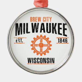 Milwaukee Silbernes Ornament