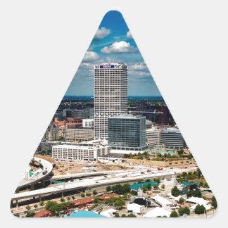 Milwaukee-Skyline Dreieckiger Aufkleber