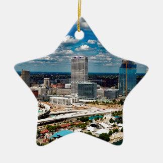 Milwaukee-Skyline Keramik Stern-Ornament