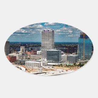 Milwaukee-Skyline Ovaler Aufkleber