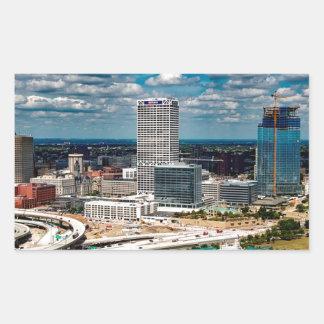 Milwaukee-Skyline Rechteckiger Aufkleber