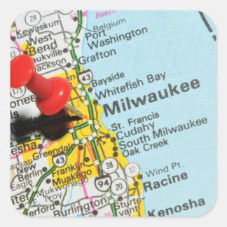 Milwaukee, Wisconsin Quadratischer Aufkleber