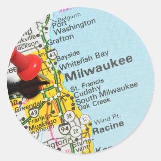 Milwaukee, Wisconsin Runder Aufkleber