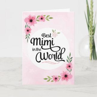 Mimi Birthday - Best Mimi  in the World w/Flowers