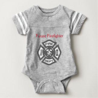 Mimi zukünftige Feuerwehrmann-Säuglings-Kleidung Baby Strampler