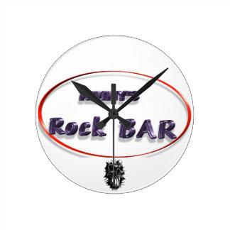 Mimmy's Rock Bar Runde Wanduhr
