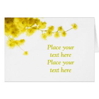 Mimose Karte
